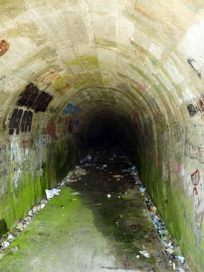 Туннель вглубь горы
