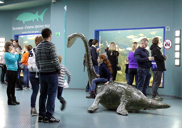 Фото на плезиозавре