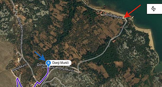 карта деревни Доньи Муричи и пляжа