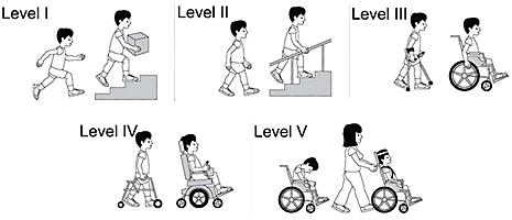 дети разных уровней по GMFCS