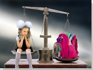 Вес школьного ранца больше веса ребенка