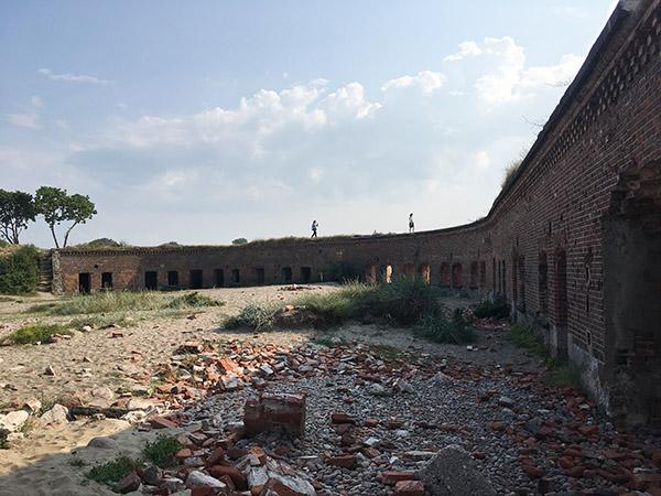 внутренняя часть форта