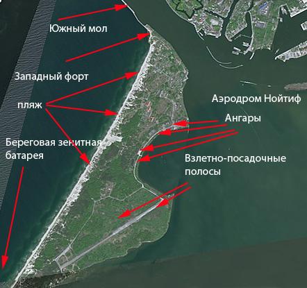 Стрелками отмечены достопримечательности на карте