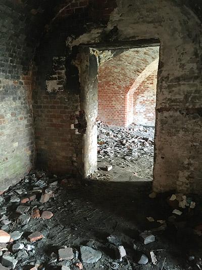 Проходы внутри стен крепости